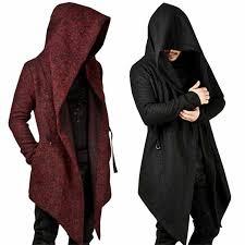Men's hooded <b>trench</b> coat <b>2018 autumn</b> winter fashion irregular hem ...