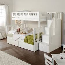 white furniture cool bunk beds: bed bath best bunk beds with stairs for your children e   www twin over furniture