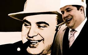 Chris Knight Capone in front of a photo of Al Capone Photo: MARGARET SINGER. 9:00AM BST 22 Aug 2010. To the little girl in the 1940s, Uncle Al was just a ... - alcapone_1700937c