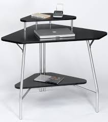 stainless steel based computer desk black home office laptop desk furniture