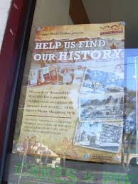 old lower plenty road bridge yallambie poster in shop window at lower plenty 2015