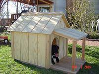 Free Dog house diy plans and idea    s for building a dog kennelStraight Forward Dog House