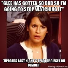 Glee Memes via Relatably.com