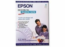 <b>Термотрансферная бумага Epson A4</b> Iron-On Cool Peel Transfer ...