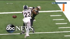 NFL slammed over bad call in Saints playoff game - YouTube