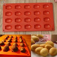 20 Cavity Mini <b>Shell</b> Cake Pan Silicone <b>Mold</b> Cookies Baking <b>Mould</b> ...