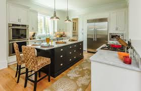 kitchen cabinets home office transitional: south carolina home features inset cabinets