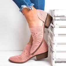 New Autumn <b>Women Shallow</b> Brogue Shoes Vintage <b>Chunky Heel</b> ...
