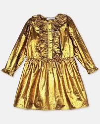 <b>Party Gold</b> Dress | <b>Women</b> | Stella McCartney <b>Kids</b>