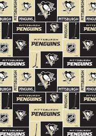 Pittsburgh Penguins Fleece Fabric -Block | Fabric for pillows ...