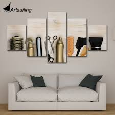 Modern Wall Art Pictures <b>Home Decor Posters</b> 5 Panels Hair Salon ...