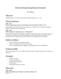 entry level electrical engineering resume entry level  seangarrette coelectrical engineering resume exles how to write resumes