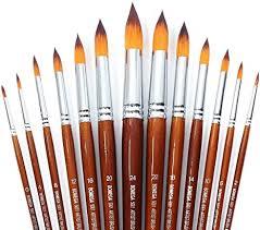 <b>13 Pcs</b> Long Handle Pointed <b>Round</b> Large Paint Brushes Set with ...