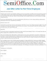 employee archives com offer letter for part time employment