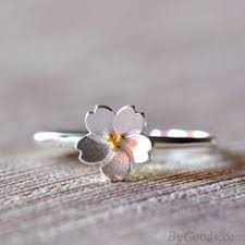 <b>Sweet Pink Crystal</b> Frosted Cherry Vivid Flower Branch Open Ring ...