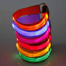 <b>2.5cm LED</b> Wrist Band Glow Light Arm Band Bracelets <b>straps</b> ...