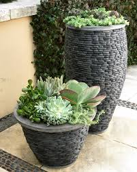 large garden planters outdoor decor diy these planters are really unique looking i love that natural river sto
