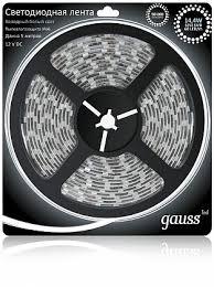 <b>Светодиодная влагозащищенная лента Gauss</b> 14,4W/m 60LED/m ...