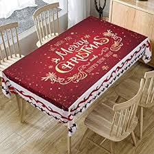 Buy <b>Christmas Printed</b> Fabric Tablecloth, Oil-Proof and <b>Waterproof</b> ...