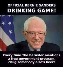 Meme Reveals HILARIOUS Official Bernie Sanders Drinking Game | The ... via Relatably.com