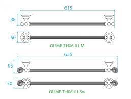 <b>Полотенцедержатель</b> 60 см <b>CEZARES OLIMP</b>-<b>TH06</b>-01-Sw ...