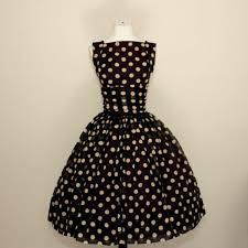 <b>50s</b> navy blue and white polka dot chiffon dress - dLeChe, $280.00 ...