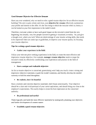 great objectives for resumes getessay biz how to write a good objective on a resumeregularmidwesterners throughout great objectives for it management resume norcrosshistorycenter