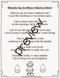classroom bies celebrate national poetry month a spring is national poetry month and a time for lots of showers students will love this fun rain poem what do you do when it starts to rain poem