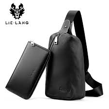 <b>LIELANG</b> Men's <b>Leather</b> Crossbody <b>Bag</b> Male Business Satchel ...