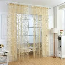 <b>HOT</b> SALE  Floral Flocking <b>Double S</b> Shaped Tulle Curtain | Shopee ...