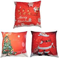 Merry Christmas Throw <b>Pillow</b> Cover 3 Pack, edealing Cotton Linen ...