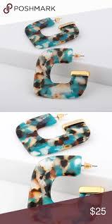 multicolor new acrylic earrings for women fashion simple drop wholesale t21