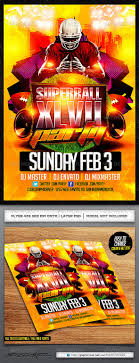 superbowl party flyer template by industrykidz graphicriver superbowl party flyer template sports events