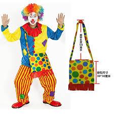Adult Man Variety <b>Funny Clown Costumes Cosplay</b> Jumpsuits+Bag ...