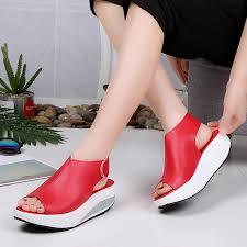 <b>Women running shoes wedges</b> platform sneakers women shoes ...