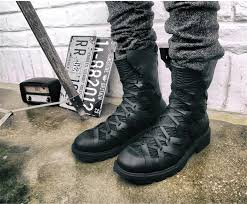 Black <b>Mens</b> Italian Desert Boots Short <b>Motorcycle Boots Autumn</b> ...