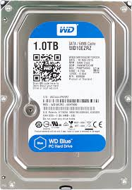 <b>Жесткий диск WD</b> Blue WD10EZRZ, 1Тб, HDD, <b>SATA III</b>, 3.5