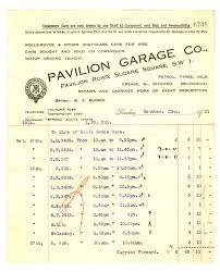 pavilion garage company invoice treaty pavilion garage company invoice 22 1921