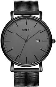 BUREI Men's Fashion Minimalist Wrist Watch Analog ... - Amazon.com