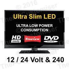<b>12V LED</b> HD Digital TV DVD <b>12 VOLT</b> 24 V. Caravan, <b>Boat</b>, HGV ...