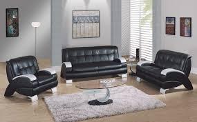 appealing black leather modern sofa captivating living room design tufted