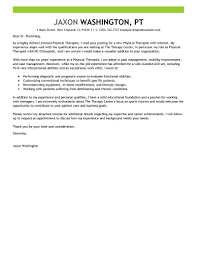 physical therapist cover letter sample perfect cover letter examples