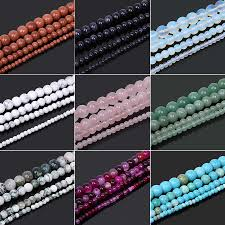 New Fashion 4 <b>6 8 10mm Natural Stone</b> Beads Black Lava Tiger ...