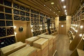 the new world wine cellar at palais coburg which recently took the title of worlds box version modern wine cellar furniture