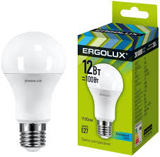 <b>Светодиодная лампа Ergolux LED</b>-<b>A60</b>-<b>12W</b>-E27-4K - купить ...