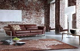 rustic exposed brick wall design of minimalist bedroom with luxury pine living room furniture sets brick living room furniture