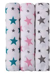 Buy haus & kinder Twinkle Collection <b>Cotton Soft</b> Muslin Swaddle ...