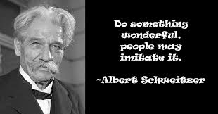 Albert Schweitzer Quotes Quotations. QuotesGram via Relatably.com