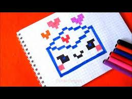 Конверт с <b>Сердечками</b> Как рисовать по клеточкам в тетради How ...