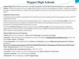 sample essay for high school magnet program   essay high school information and options ms lisa karsten m a ed